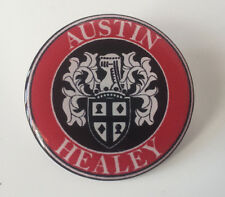 42MM AUSTIN HEALEY WHEEL CENTRE CAP STICKER RESIN DOME 3D DOMED SLOT MAGS CAPS
