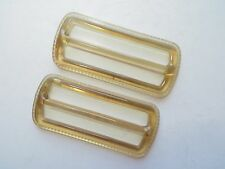 1960's Vintage Applejuice Lucite Ladies Belt/Bag Buckles-Set 6.5cm x 2.8cm