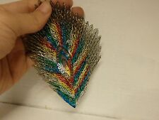 peacock feather patches sequin applique bird patch motif iron on sew on UK