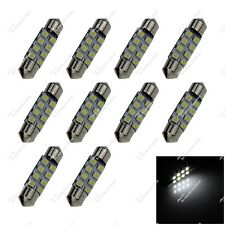 10X White 36MM 37MM 8 SMD 3528 LED Interior Light Dome Map Bulb Lamp Auto ZI108