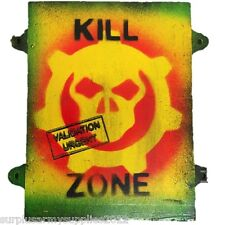 KILL ZONE SIGN WOODEN WALL PLAQUE + BRACKETS TARGET ARMY SAS MARINE SHED GAMING