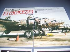"VINTAGE..B-17 FLYING FORTRESS ""5-GRAND""..HISTORY/PHOTOS....RARE! (394D)"