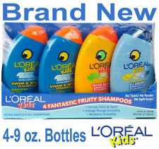 4 NEW LOREAL KIDS 2 IN 1 SHAMPOO & CONDITIONER,CHILDRENS TEAR FREE,9 OZ. BOTTLES