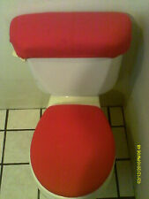 RED TOILET SEAT COVER SET