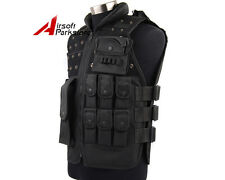 Tactical Outdoor SWAT Police Combat Assault Vest Black Airsoft Paintball Wargame