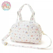 Little Twin Stars Kiki Lala 2Way Boston Bag Handbag Purse Sanrio Japan S4912