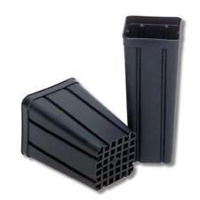 Vaso quadrato plastica nero 1,4L antispiralizzazione costolatura 10x10x17 100pcs