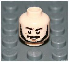 Lego Indiana Jones x1 Flesh Head Beard Smile Scared Grin Man Minifigure NEW