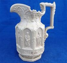 Antique Stoneware High Relief Drab Ware Charles Meigh Apostle Jug Pitcher 1849