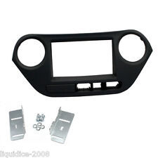 CT23HY38L HYUNDAI I10 2014 ONWARDS BLACK LHD DOUBLE DIN FACIA ADAPTER PANEL