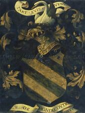 ANTWERP 16TH CENTURY CRESTED COAT ARMS OLD ART PAINTING POSTER PRINT BB5005A