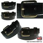 Mens Best Deal Of 2 Belts Black Brown 1.25 Wide Full Grain Real Leather Belt