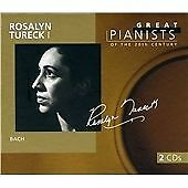 """CD x 2 PHILIPS Great Pianists 20th Century 93: 456 976-2 """"Rosalyn Tureck I"""" Bach"""