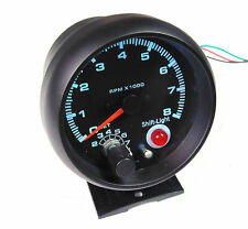 Universal 80mm Tacho RPM Gauge Multi Colour Light with Shift Light Warning
