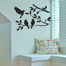 Birds on Tree Vinyl Wall Sticker Decal Livingroom Children Nursery Mural KItchen