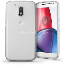 Clear Silicone Slim Gel Case Screen Protector for Motorola Moto G4 Play