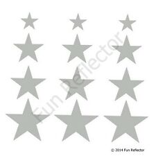Silver Stars Bicycle Reflective Stickers Decals