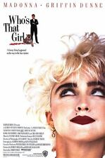 Who's That Girl - original movie poster - 27x40 Madonna 1987