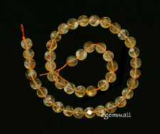 "Citrine Flat Round Coin Faceted Beads 9mm 15.75"" #62041"