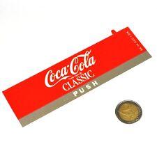 Vintage Coca-Cola Cavalier Máquinas expendedoras Etiqueta Escrito Signo de