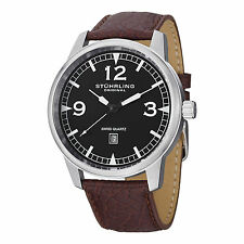 Stuhrling Original Men's 1129Q.01 Condor Swiss Quartz Brown Leather Date Watch
