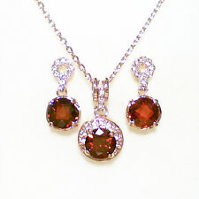Fashion Jewelry - 18K Rose Gold Plated Red CZ Set (FS027)