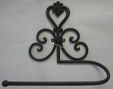 French Provincial Brown Metal Holder For Paper Hand Or Tea Towel,Toilet Roll Etc