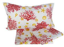LENZUOLA matrimoniale puro cotone 240x290 corallo rosso 2 piazze