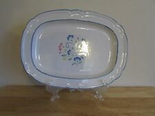 Floral Expressions Stoneware Oval Serving Platter Japan 12.625 Long Hand Painted