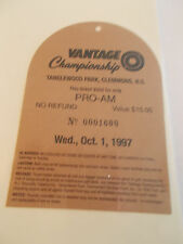 1997 Vantage Championship Golf Tournament Badge Ticket Hale Irwin wins (SKU3)