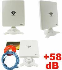 Amplificatore segnale WIFI Internet.Antenna ricevitore,USB,Wi-FI + 58 dB per PC