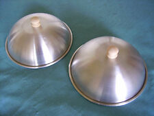 BBQ Steak and Burger Basting Lids 7.25in. set of 2 Cheese Melting Dome Covers