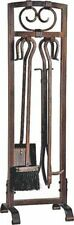 "BRAND NEW HOMEBASIX 5 PIECE ANTIQUE BRONZE  32"" FIREPLACE SET TOOLS 0262139"