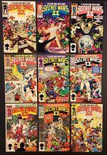 SECRET WARS II #1 - 9 Comic Books Marvel 1985 FULL SERIES Captain America X-Men