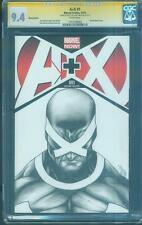 Avengers vs X Men 1 Variant CGC 2X SS 9.4 Tron Cyclops original sketch art no 8