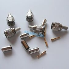 10X MiniUHF Mini UHF male plug crimp RG58 RG142 LMR195 RG400 cable RF Connector