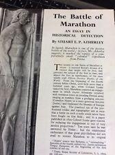 T1-9 Ephemera 1952 Article Battle Of Marathon Atherley