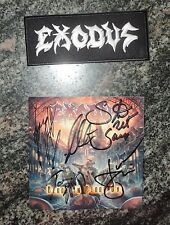 Exodus Blood In, Blood Out patch + autographed booklet