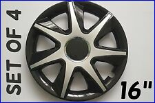 "SET OF 4 16"" UNIVERSAL WHEEL TRIMS COVER,RIMS,HUB,CAPS TO FIT HYUNDAI +GIFT #8"