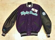 Vintage Anaheim Mighty Ducks Hockey NHL Mens Large Wool Letterman Jacket Delong