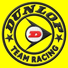 Dunlop team racing ecusson brodé patche Thermocollant iron-on patch
