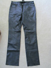 """NEW WITH TAGS WOMEN'S GUESS GENUINE LEATHER PANTS BLACK SIZE 8 31""""X34"""" $199.00"""