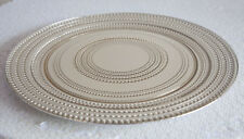 DOT DESIGN GLASS CHARGER PLATE GOLD/SILVER WEDDINGS EVENTS PARTY CHRISTMAS