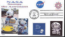 SNOOPY THE ASTRONAUT  NASA  SILVER SNOOPY AWARD   DOGS IN SPACE-  FDC- DWc