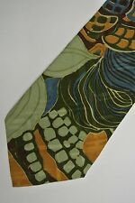 "Green Abstract GIAN MARCO VENTURI Silk Tie.MADE IN ITALY.  3.4"" W 57"" L"