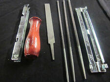 7pc CHAINSAW SHARPENING CHAIN SAW SET FILES GAUGE HANDLE 4 OREGON STIHL ECHO ETC