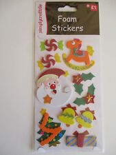 Dovecraft Foam Christmas Stickers - Santa , Toys and Decorations