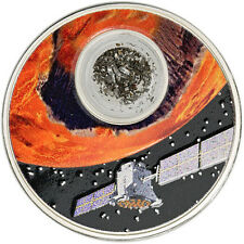 2017 Niue Islands mit Meteorit! Solar System, Mission to Mars, Campo, $2 Silber