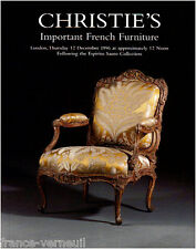 Christie's Mobilier XVIIIe French furniture 18th century Louis XV XVI Empire