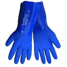 Chemical, Oil, Water Resistant Gloves 8660 Frog PVC 3 Pair PAK size SM